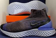 Nike Rise React Flyknit Thunder Grey Sapphire Blue SZ 12 ( AV5554-055 )
