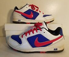 Nike Air Prestige Women Basketball Shoes 318972-106 US Size 6 Red/Wht/Blue