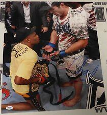 Chael Sonnen Signed UFC 117 16x20 Photo PSA/DNA COA Anderson Silva Belt Picture