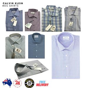 Calvin Klein CK Men Business Shirt Size 38 Slim Fit M S Casual Full Sleeve Shirt