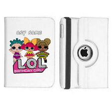 LOL Doll 07 Name Personalised iPad 360 Rotating Case Cover Birthday Present Gift