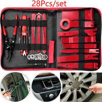 28PCS Nilón Desmontaje/Eliminación Kit para Desmontar el Salpicadero Radio ,Rojo