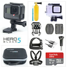 GoPro HERO5 Black + Sports Accessories + Camera Case + 16G SanDisk Memory Card