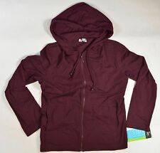 Jockey PERSON Womens Zipper Front Hoodie Jacket Size Medium Plumraisin NEW