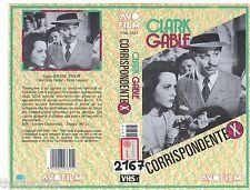 Corrispondente X (1940) VHS AVO film  Video   - Clark Gable Hedy Lamarr VIDOR