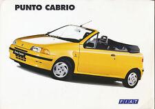 Fiat Punto Cabrio Prospekt I 4/94 brochure 1994 Auto Pkw Autoprospekt Italien