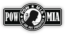 POW MIA Hard Hat | Helmet Decal Sticker Label WW2 Vietnam Prisoner War Missing