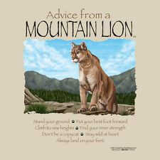 ADVICE FROM A MOUNTAIN LION ADULT LARGE T-SHIRT