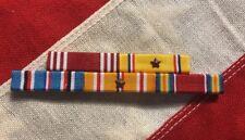 US Army Aircorps 5 Ribbon Bar Mounted Good Conduct WW2 Victory