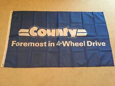 Ford County tractors garage workshop flag banner
