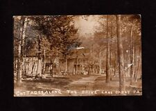 Postcard Lake Carey Cottages Along the Drive Rare Cancel  Wyoming County PA