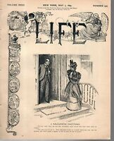 1894 Life May 3- Doctor and snare drum player; Mark Twain sits around; 4 in hand