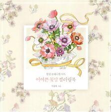 NEW Healing Botanical Art Coloring Book Flower Language 72 Pages Anti-Stress