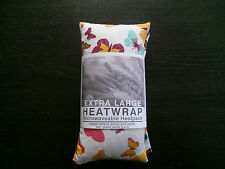 LARGE Heat/Cool pack. UNSCENTED Wheat bag   BUTTERFLY PATTERN