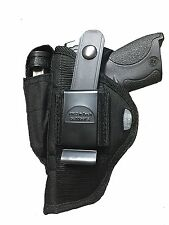 Belt Side & Clip on Gun holster With Magazine Pouch For Hi-Point C-9,CF-380,9mm
