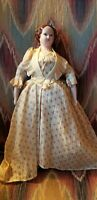 "VINTAGE RUTH GIBBS 12"" GODEY'S LADY LITTLE WOMEN CHINA DOLL"