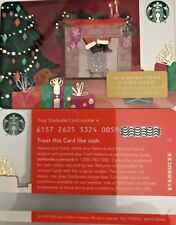 "2018 STARBUCKS CHRISTMAS ""SANTA COMING DOWN CHIMNEY"" GIFT CARD #6157 NO VALUE"