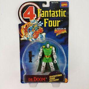 Marvel Fantastic Four Dr. Doom Action Figure Action Hour ToyBiz Shooting Arm NEW
