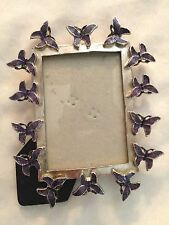 "Purple 4X5"" Butterfly Picture Frame Holds 2.5X3.5"" Photo"