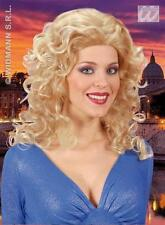 Ladies Blonde Curly Wig Dallas Britney Pop Star Dolly Parton Fancy Dress