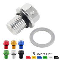 M12x1.5 Oil Drain Bolt Plug Crush Washer For Kawasaki KLX125 D-Tracker125 10-16