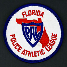 Ecusson brodé ♦ (patch/crest embroidered) PAL POLICE ATHLETIC LEAGUE FLORIDA USA