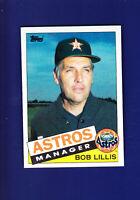 Houston Astros Team CL (Unmarked) 1985 TOPPS Baseball #186 (MINT) Bob Lillis