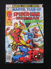Marvel Team-Up Iron Man Spiderman 72 Signed Bob Layton Jim Shooter COA