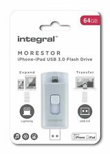 Integral MORESTOR iPhone & iPad 64GB USB 3.0 Flash Drive