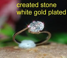 1ct 6x8mm oval single DIAM0ND ring size K 5.5