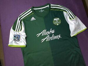 Large 2011 ADIDAS MLS Portland Timbers Alaska Airlines Soccer Jersey