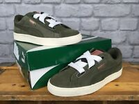 PUMA LADIES UK 5 EU 38 KHAKI BASKET HEART SUEDE VELVET ROPE TRAINERS RRP £80