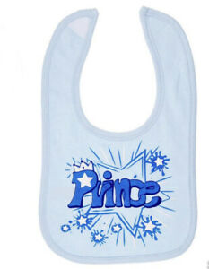 Blue Prince Baby Feeding Bib Cute Gift Soft Touch 100% Cotton Boys