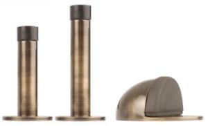Antique Brass Door Stop Projection 63mm & 76mm Face Fix & Fixings *Low As £5.00*