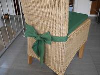 Stuhlkissen 40 x 40 x 4 cm Sitzkissen grün mit Schleife