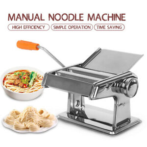 Manual Noodle Mahcine Stainless Steel Pasta Press 6 Gear Lasagne Cutter Roller