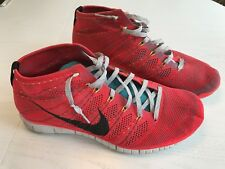 Mens NIKE Free Flyknit Chukka Red Volt Size 13 **Nice**