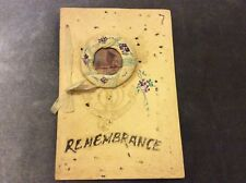 Antique Christmas Card - Remembrance - Used