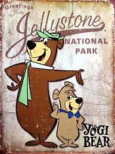 Yogi Bear STONE PARK, rétro en métal Aluminium Signe, cadeau de nouveauté