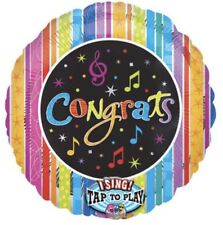 """MUSICAL 🎶SINGING 28"""" HELIUM FOIL BALLOON CONGRATULATIONS GCSE RESULTS WELL DONE"""