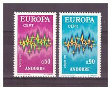 ANDORRE . N°  217/218.    2  VALEURS EUROPA    NEUVES    **. SUPERBE