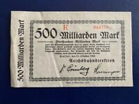 GERMANY - 500 BILLION  MARK-SAFFEL - 1923-INFLATION - VERY FINE