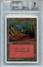 MTG Unlimited  Mountain BGS 9.0 (9) Mint Magic Card WOTC 2831