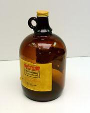 Vintage Kodak Bottle 1 Gallon Print Flattening Empty Amber Glass