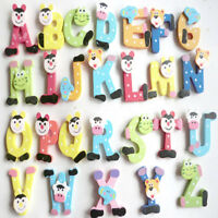 26pcs Wooden Cartoon Alphabet A-Z Magnets Child Educational Toy Kids Baby Gifts