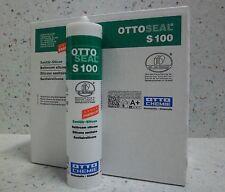 Ottoseal S100 bahamabeige 20 x 300 ml Premium-Sanitär-Silicon Silikon Bad Küche