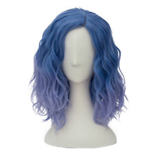 Lolita Heat Resistant Mixed Light Blue Ombre Curly Women Harajuku Cosplay Wig