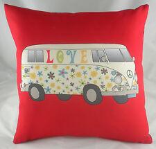 """17"""" LOVE Camper Cuscino Evans Lichfield ROSSO Picnic DP134"""