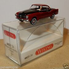 MICRO WIKING HO 1/87 BORGWARD ISABELLA COUPE BICOLORE ROUGE FONCE NOIRE IN BOX