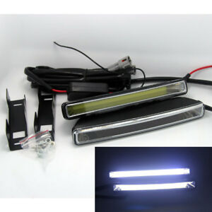 2x New 20W COB Xenon White LED Light Car DRL Driving Fog Lamps 6000K w/ Brackets